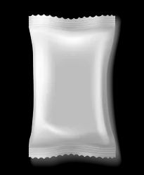 Sealed PET+LDPE Silver Laminated Pouch, Thickness: 50 Microns