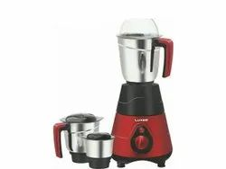 ABS Plastic (Body) Red, Black Luxer 550 W Mixer Grinder, For Wet & Dry Grinding