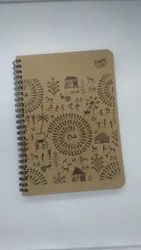 Rajdhani Paper Brown A4 Spiral Notebook, For Multiple