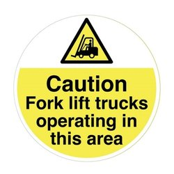 Single Floor Safety Sticker, For Industrial