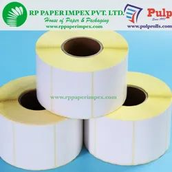 PULP Thermal Transfer Labels 38 x 38 mm (1.5 x 1.5 inch), 2 Up Chromo TT38x38x2