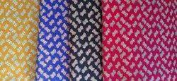 Cambric Ikkat Cotton Fabric, Multicolour