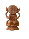 Ganesh Ji Wooden Murti 6 Inch Sitting On Lotus