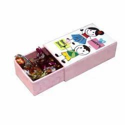 Cardboard Pink Bhai Dooz Paper Chocolate Box, Packaging Type: Carton, Size: 5x3x1.5Inch