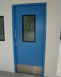 Blue Hinged SS Scientific Door, For Hospital
