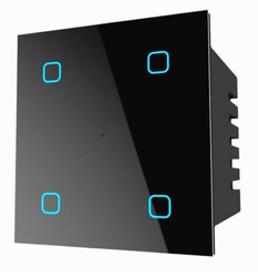 Home Automation Modular Touch Switch With Mobile APP ( 4 Gang Touch With WiFi)