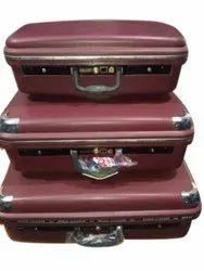 Maroon Plastic Galaxy Luggage Suitcase