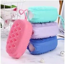 New Shrids Double-Sided Silicone Deep Cleaning Bubble Body Brush, Rectangle