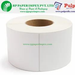 PULP Direct Thermal Labels 75 x 50 mm (3  x 2 inch), 1 Up Chromo DT75x50x1