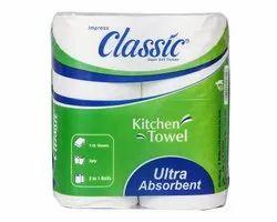White Plain Classic Kitchen Towel Roll, 230 g