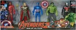 Indoor Plastic Super-hero Figurine Adjustable Avengerstoy Set Of 5 (multicolor), Child Age Group: 2 Years Above