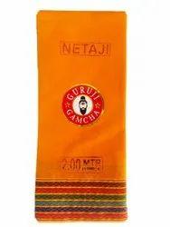 Narayan Textile Orange Guruji Cotton Gamcha, Size: 2 Meter
