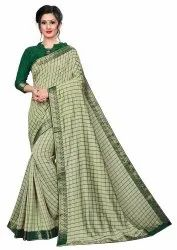Ofline Selection Party Wear Ethnic Silk Designer Printed Green Saree, 6.3 m (with blouse piece)