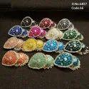 Fusion Arts Handmade Meenakari Jhumka Earrings