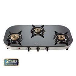 Black Hindware Franco 3B AI Glass Cooktop, Size: 770x380x130 Mm