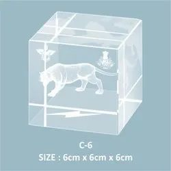Crystal Cubes With 3D Engraving