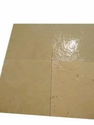 Yellow Brush Finish Stone, Thickness: 4 mm, Size: 6x6 Inch (lxw)