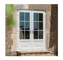 Clear Glass Lever Handle UPVC French Door, 12 Mm