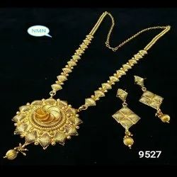 Long Bijoux Haar Necklace And Earing Jewellery Set For Women And Girl