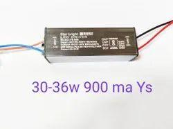 85-300volt Star Bright 30-36w 900mA Led Driver, Output Voltage: 27-36 Volt, Model Name/Number: YS007