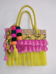 Cane Ladies Fashion Embroidery Bag