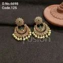 Fusion Arts Antique Polki Chandbali Earrings