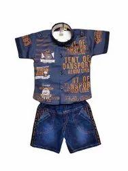 Blue Boy Kids Printed Baba Suit Set