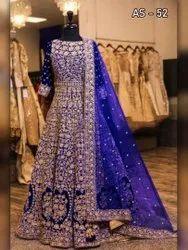 Viscos Velvet Embroidered Designer Gown