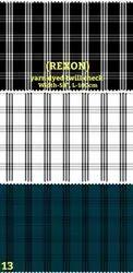 Rexon yarn dyed twill check shirting fabric