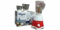 Stainless Steel 3 Jar Red Rimix Mixer Grinder, 500W, Capacity(Litre): 250ml,500ml And 1l