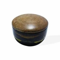 Black Round SKU 135 Printed Metal Container Filled Scented Candle