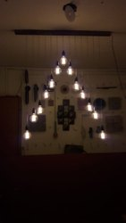 RADHVIK IRON Filament Bulb Chandelier