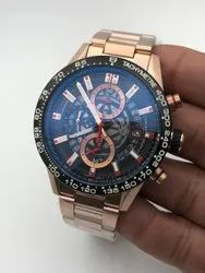 Round Luxury(Premium) Tag Heuer Watch For Men, For Personal Use