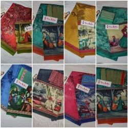 Most Demanded Premium Cotton Sarees With Seperate Blouse