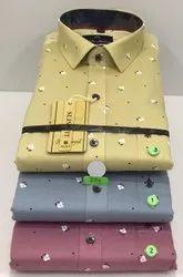 JOHN MORRIS Cotton Printed Shirts For Men