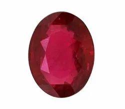红色椭圆形红宝石宝石