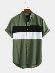 Rayon Mix Plain Mens Half Sleeve Shirts, Handwash, Size: M-xxl