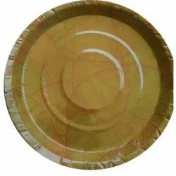Circular Plain Brown Disposable Paper Plate, For Event and Party Supplies