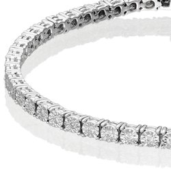 Illusion Setting Diamond Bracelet In 10k Gold