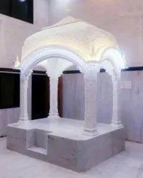 White Marble Gurudwara Palki Sahib, Size: 6x4 Feet