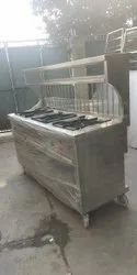 Stainless Steel Commercial Three Gas Burner, For Hotel, Size: 72