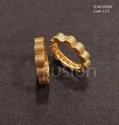 Fusion Arts Plain Gold Designer Bangles