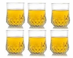 Classic Crystal-Clear Diamond Design Whiskey Glass