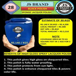 30 Kg Black Sponge Lacquer Polish