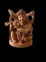 Krishan Ji Wooden Murti 4 Inch Sitting