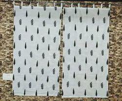Anaya Cotton White Colour Printed Window Curtain