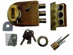 Misra Ji Golden Brass Tri Bolt Door Lock