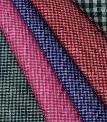 Check 58 Inch Poly Cotton School Uniform Fabric