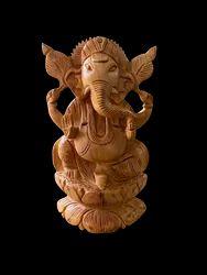 Ganesh Ji Wooden Murti 6 Inch