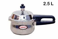 Gurudev 304 Stainless Steel 2.5Ltr Handi Pressure Cooker